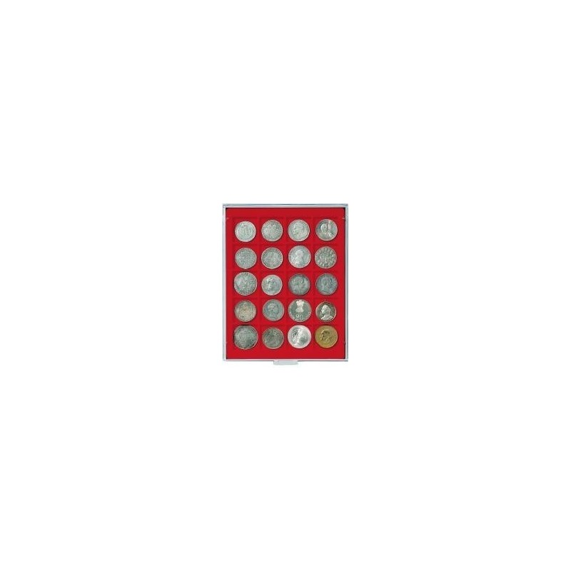 Lindner Coin Box 20 x 47mm square compartments