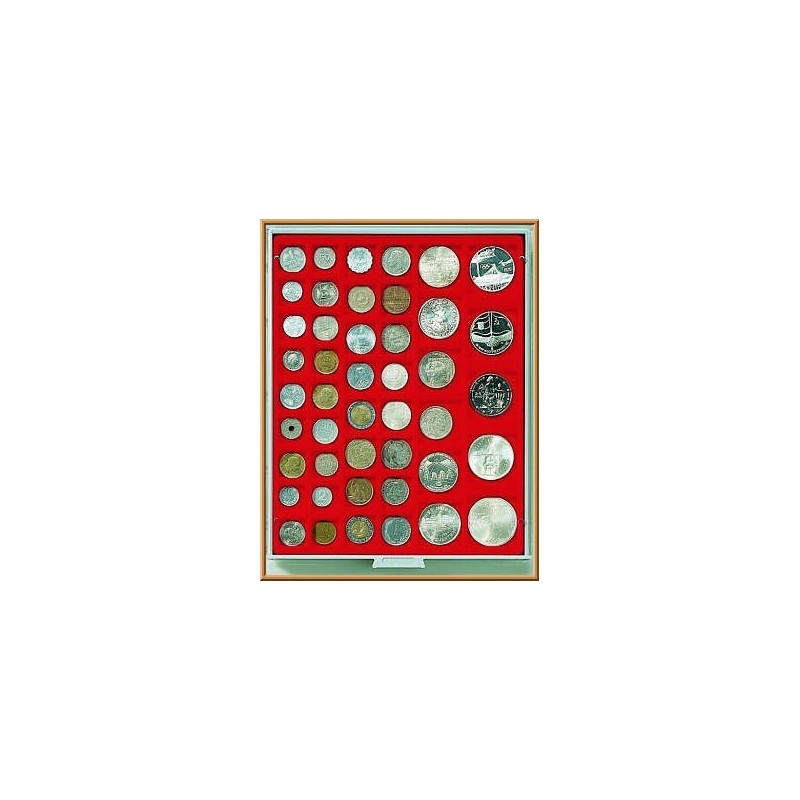 Lindner Coin Box 45 x 24,28,39,44mm square compartments