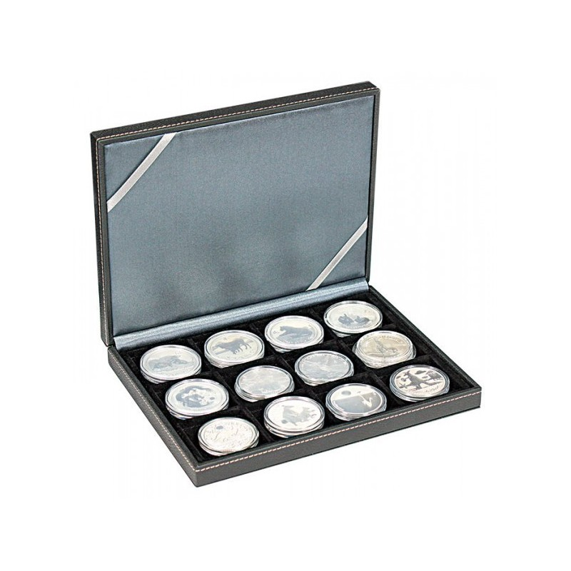 Nera Coin Case XM with 12 Square Compartments - up to 52mm