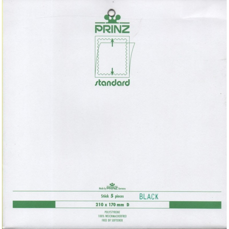 297mm x 210mm stamp mount blocks Standard blacked backed per 5