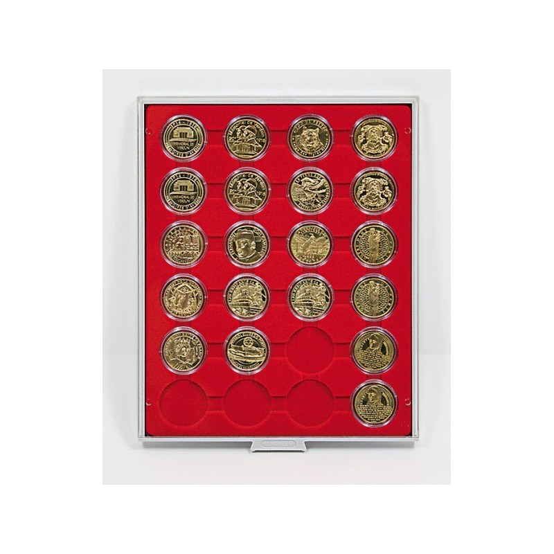 Lindner Coin Box 24 x 41mm compartments for coins in capsules