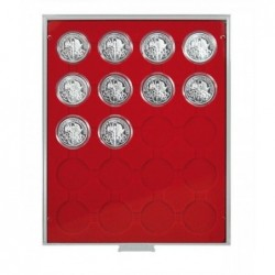 Lindner Coin Box 20 x 44mm compartments for coins in capsules