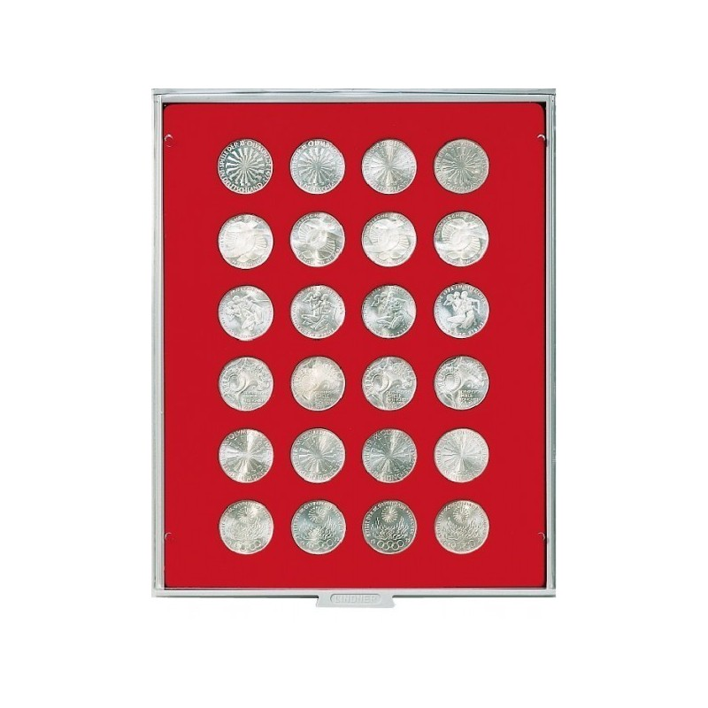 Lindner Coin Box 24 x 32.5mm round compartments