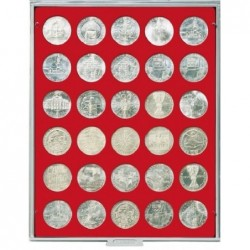 Lindner Coin Box 30 x 36mm round compartments