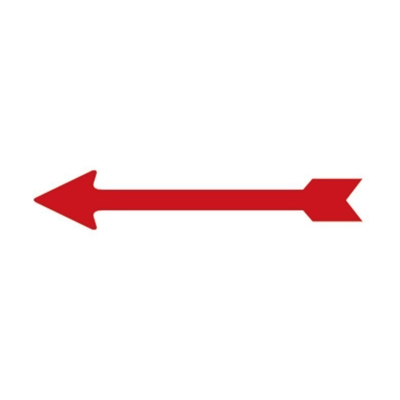 Lindner Arrow indicators x 100 red, 26mm long self adhesive