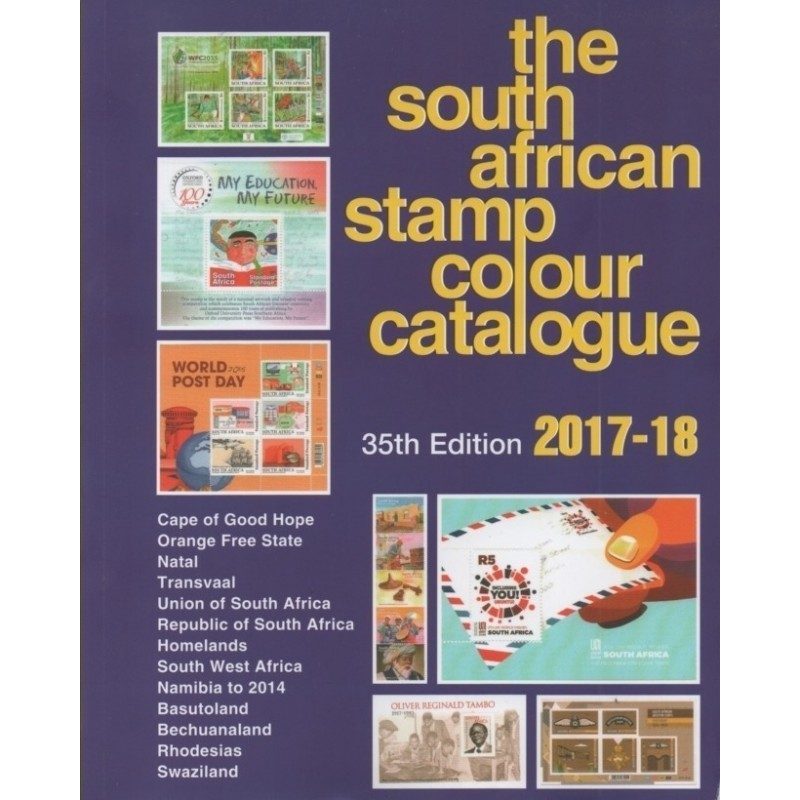 SOUTH AFRICAN Colour stamp catalogue 2017/18