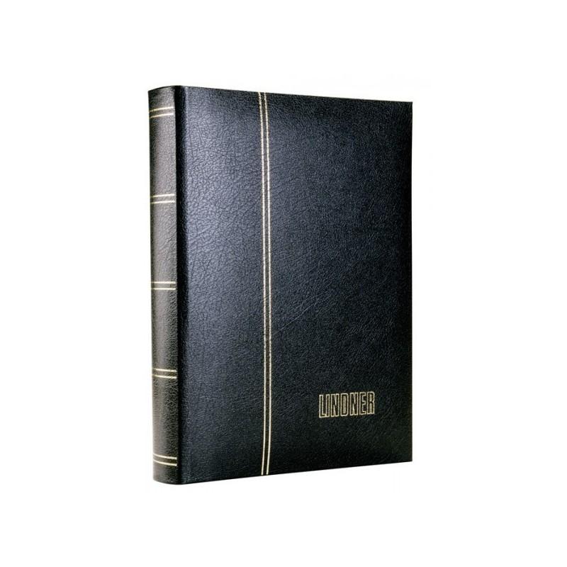 Lindner Luxus Leather stockbook 30 black pages 60 sides