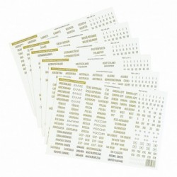 Lighthouse Self Adhesive Country Labels -  Philatelic Terms