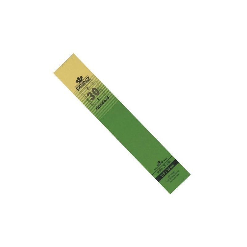 30mm stamp mount strips Standard blacked backed per 25