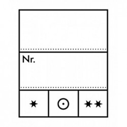Lindner stamp identification labels small -  pack of 1,000