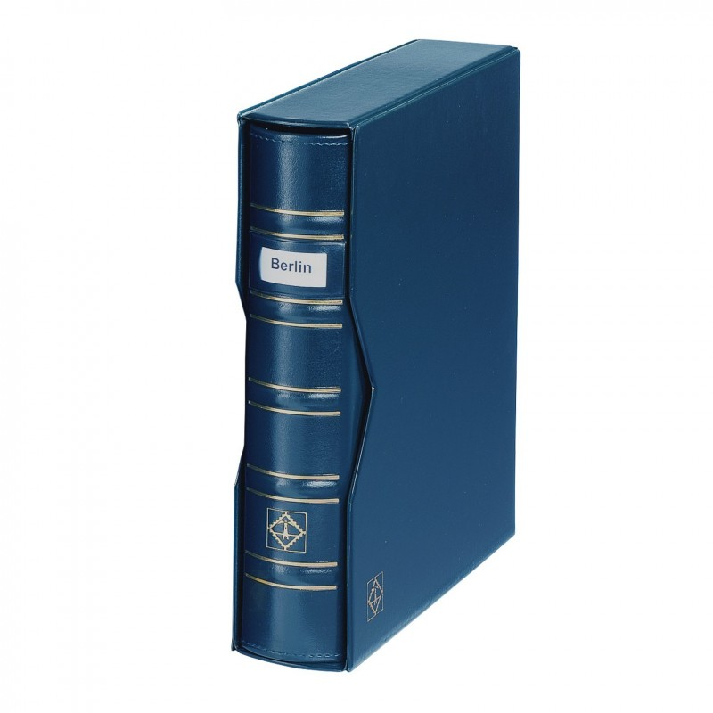 Classic OPTIMA SIGNUM ring binder and slipcase - Blue