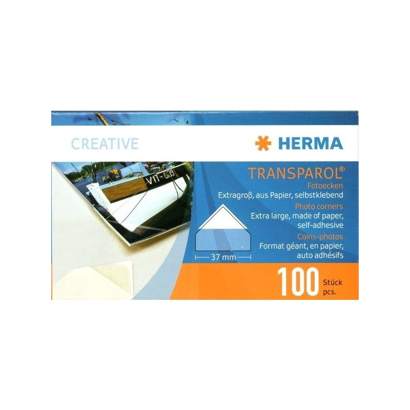 Herma Transparol Large Self Adhesive corner mounts x 100