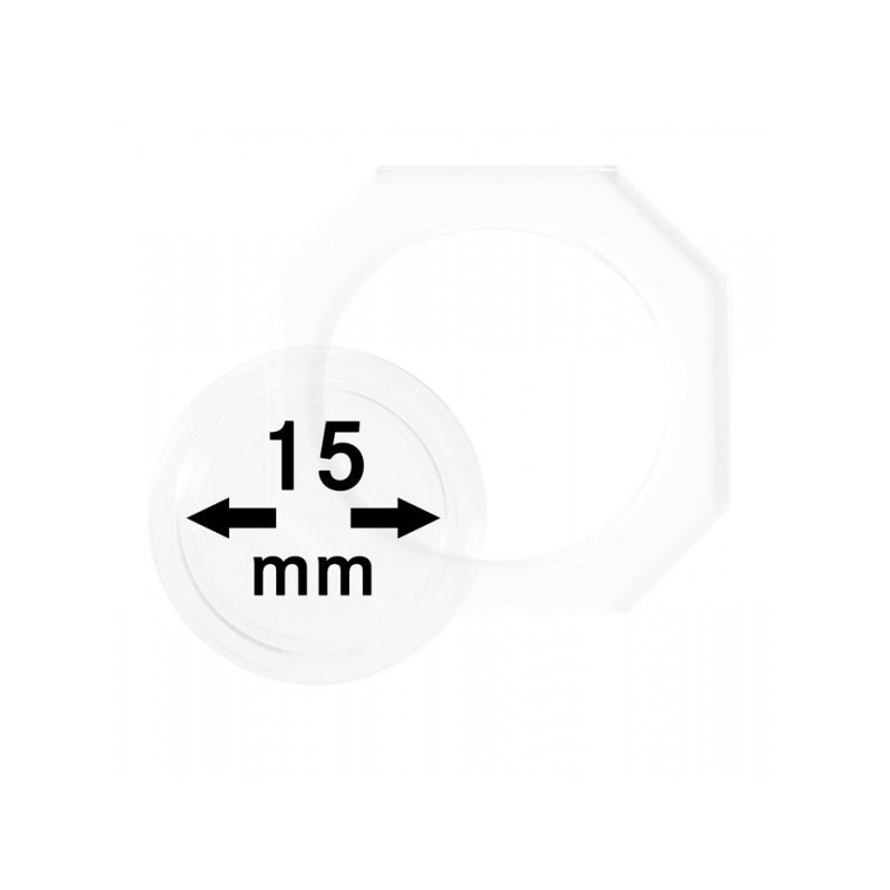 15 mm Lindner Coin Octo - Pack of 2