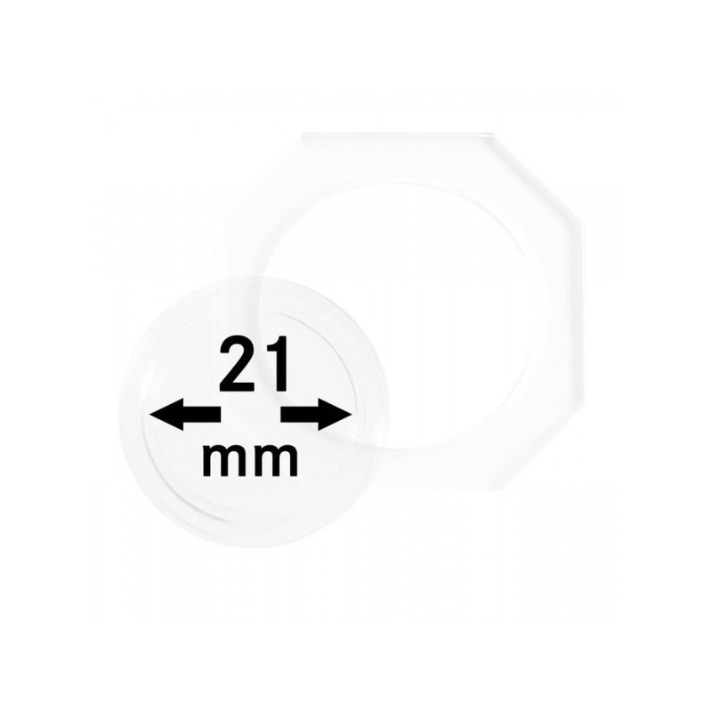 21 mm Lindner Coin Octo - Pack of 2