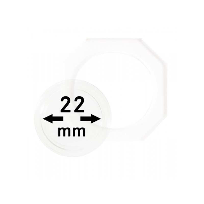 22 mm Lindner Coin Octo - Pack of 2