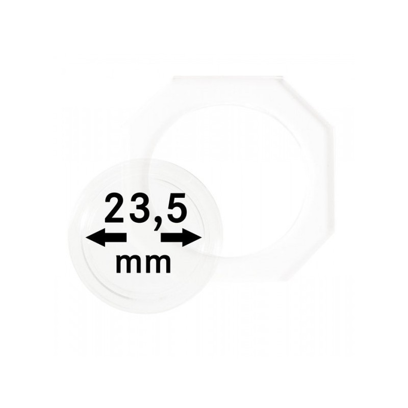 23.5 mm Lindner Coin Octo - Pack of 2
