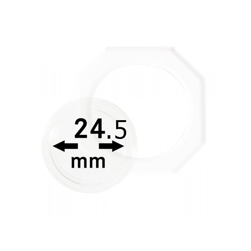 24.5 mm Lindner Coin Octo - Pack of 2