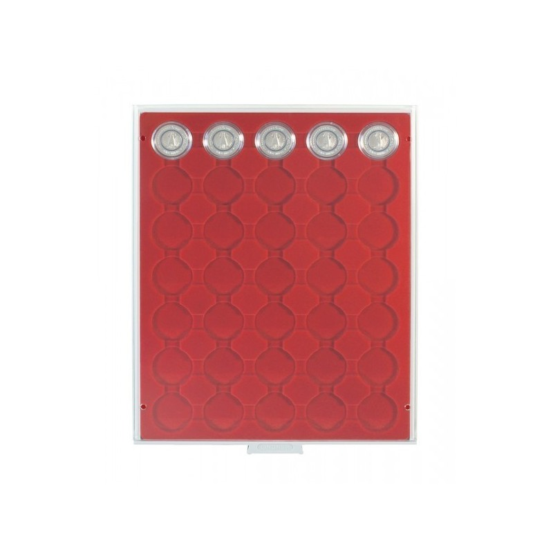 Lindner Coin Box 35 x 34mm compartments for coins in capsules
