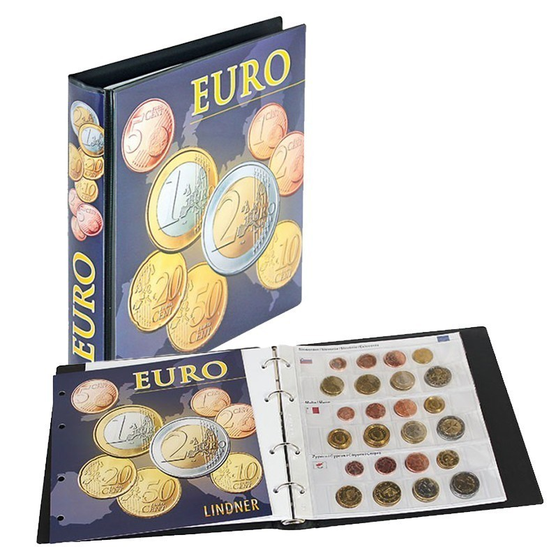 Lindner Illustrated Coin Album for Euro Coin Sets