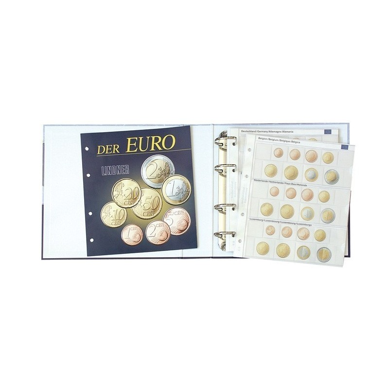 Lindner Illustrated Coin Album for Euro Coin Sets - 230 x 240