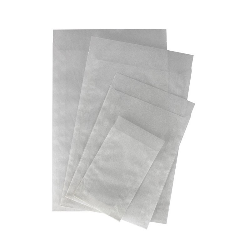Lindner pure glassine envelopes - range of sizes sold in pack of 500