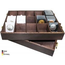 WOODEN BOX FOR COIN HOLDERS...