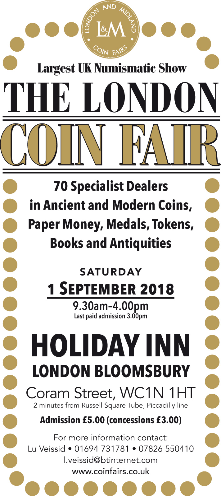 London Coin Fair information