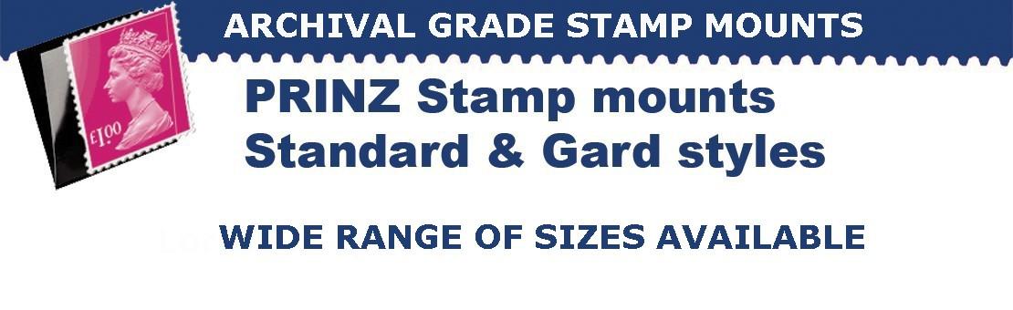 Prinz stamp mounts